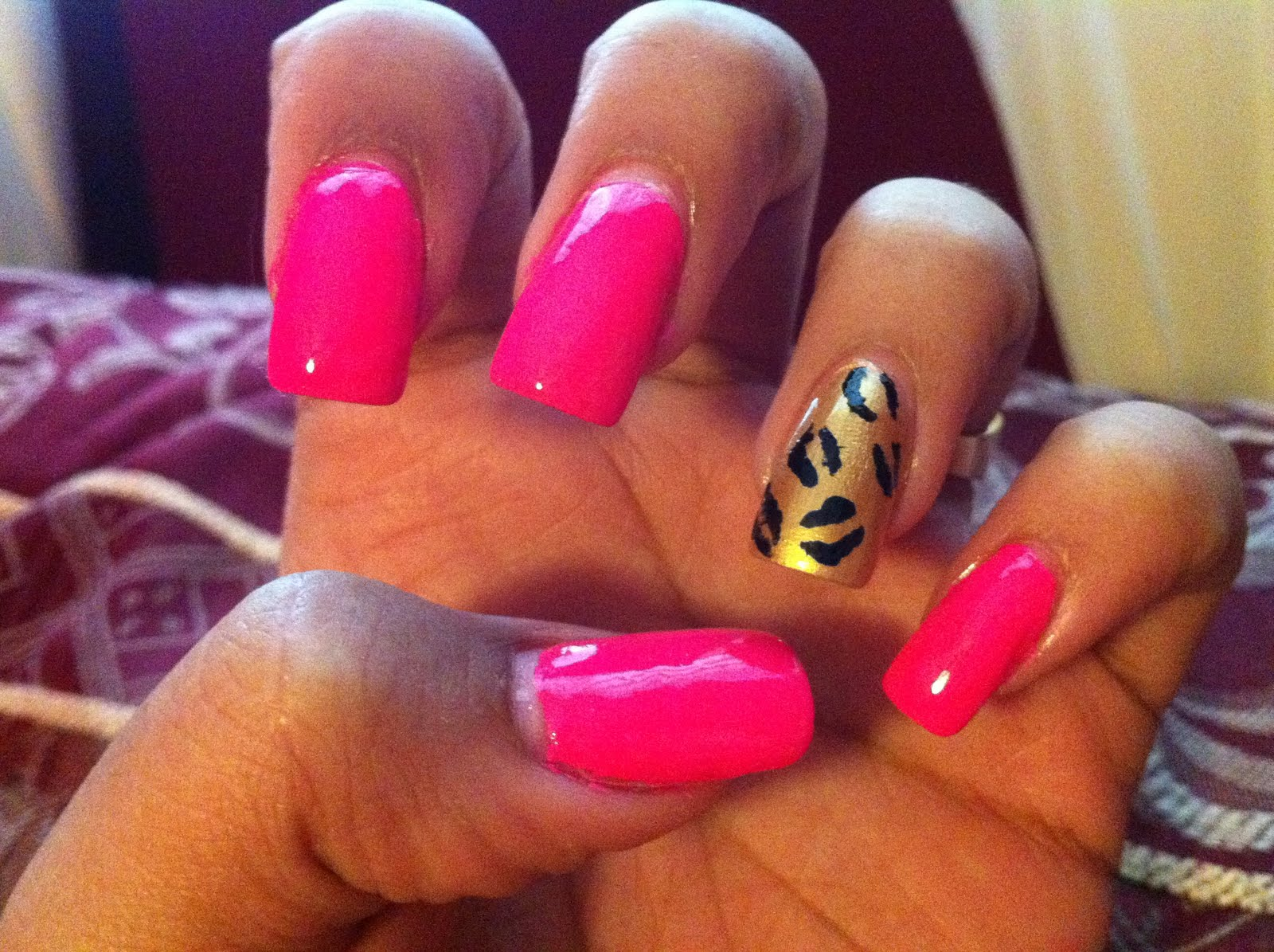 The Amazing Cute pink nail designs love Picture