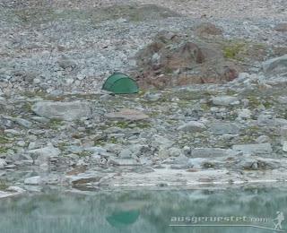 Zelten in den Alpen