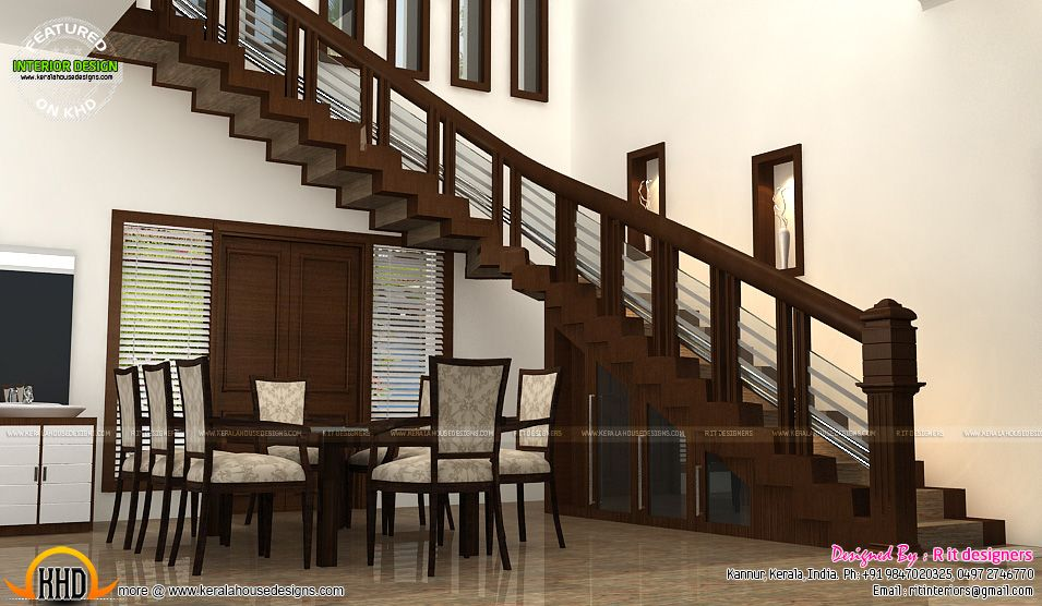 Wooden Finish Interiors Kerala Home Design And Floor Plans