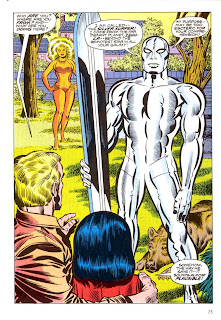 Silver Surfer graphic novel marvel comic book splash page art by Jack Kirby