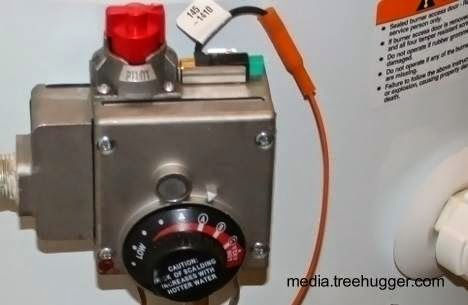 Control de temperatura de calentador de agua de uso residencial