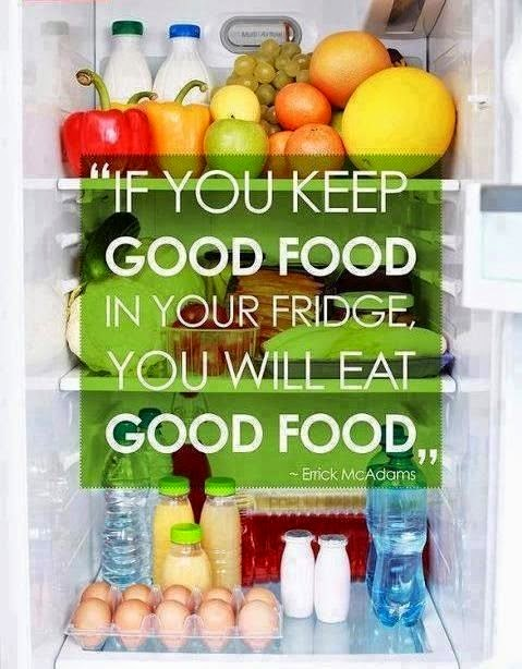 Keep good food in your fridge, Have realistic expectations, 12 Tips: A Mental Approach to Eating Healthy, www.HealthyFitFocused.com