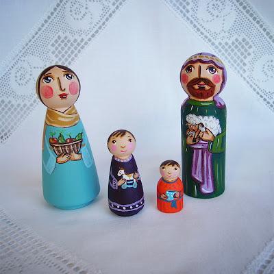 Szopka bożonarodzeniowa Święta Rodzina kołyska stajenka serce Jezus Chrystus Maryja Józef Trzej Królowie pasterze anioł gwiazdka prezent upominek dekoracja ozdoba podarunek