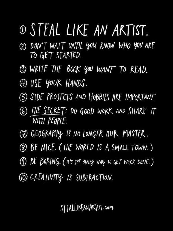 Libro recomendado: Steal like an artist