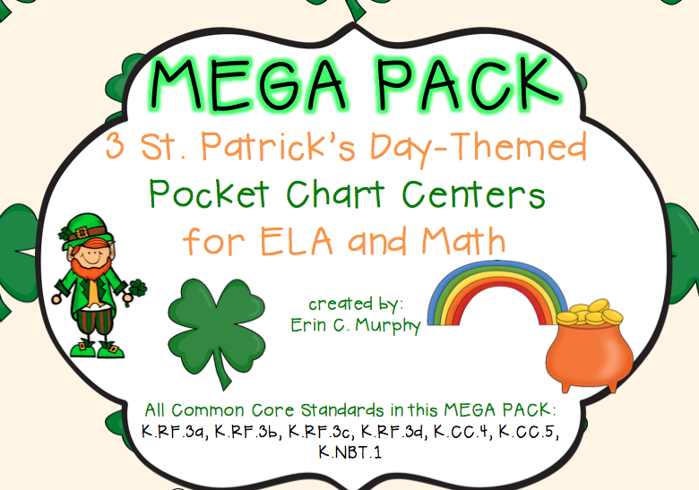 http://www.teacherspayteachers.com/Product/MEGA-PACK-of-Pocket-Chart-Activities-with-a-St-Patricks-Day-Theme-1155624