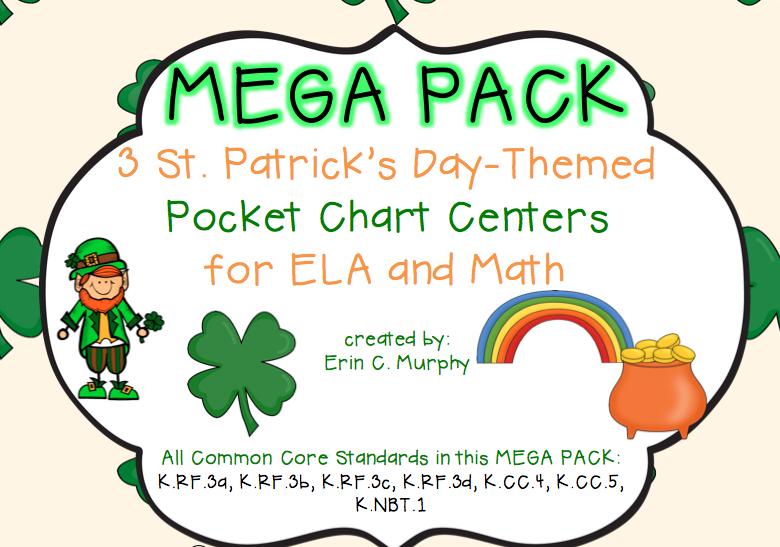 http://www.teacherspayteachers.com/Product/MEGA-PACK-of-Pocket-Chart-Activities-with-a-St-Patricks-Day-Theme-1155624