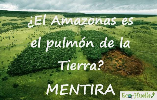 El amazonas es el pulmón de la Tierra: MENTIRA