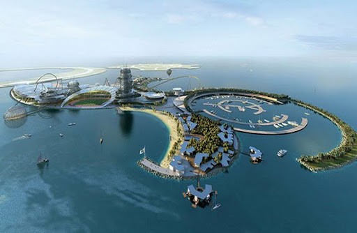 The Real Madrid Resort Island will be located on an artificial island in the United Arab Emirates