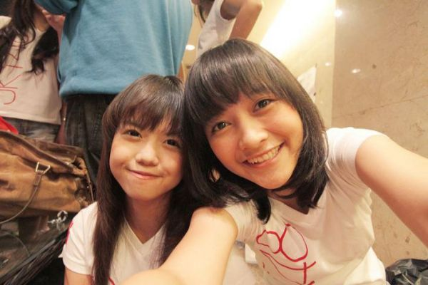 Diasta JKT48 dan Kinal JKT48 at MTV100% backstage