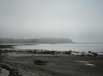 The coast off of Harpswell, Maine where many sightings of the Ghost Ship of Harpswell have been spotted.