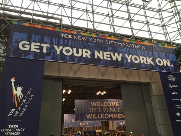 NYC Marathon Expo entrance 2014