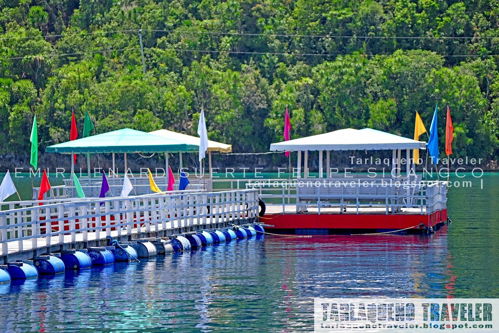 Floating cottages at Hidden Island Resort