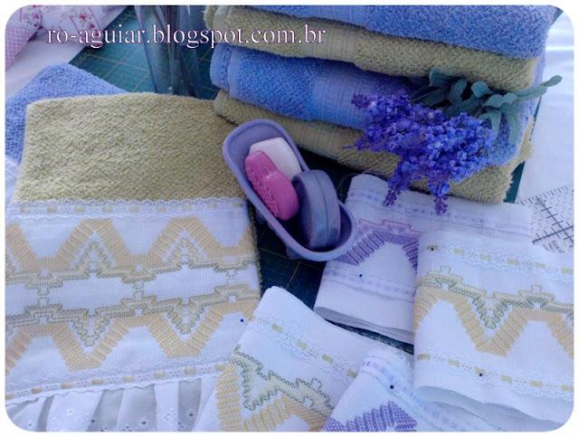 toalha de rosto - bordado vagonite