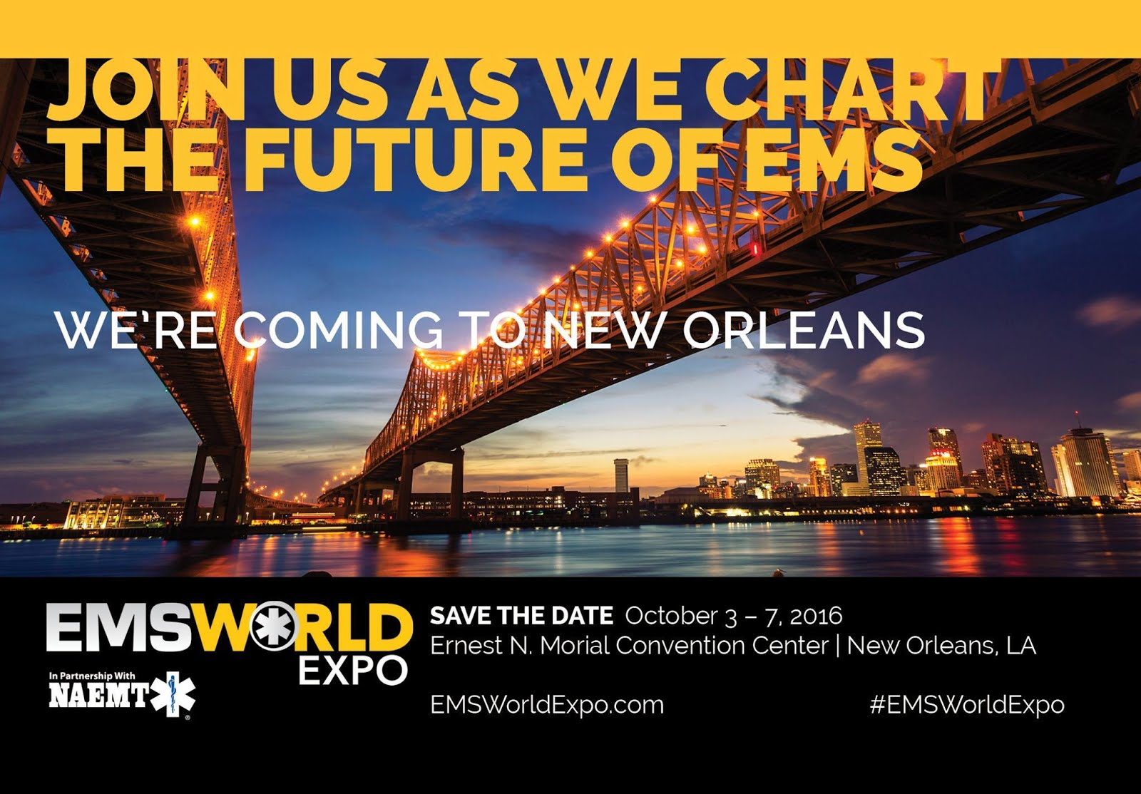 EMS WORLD EXPO 2016. New Orleans, Lousiana. USA October 3-7