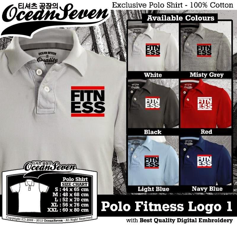 Kaos Polo Fitness Logo 1
