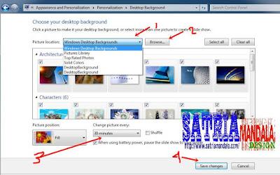 Menggunakan gambar bergerak menjadi wallpaper (background desktop).