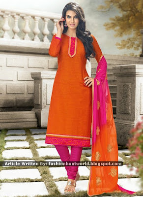 Latest Asian Casual Dresses Trend - Casual Blended Shalwar Kameez Suits
