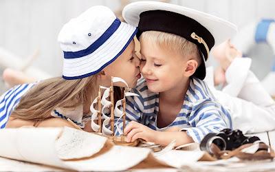 fotos de niños enamorados