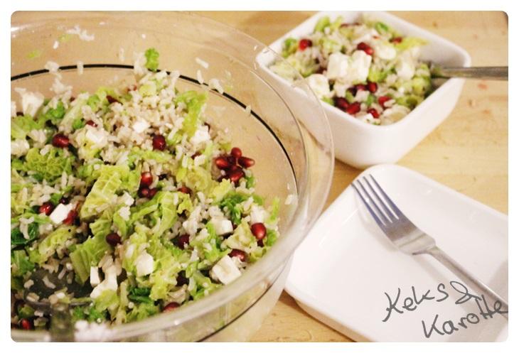 Rezept wirsing salat mit granatapfel und feta herzhaft s - Reis kochen quellmethode ...