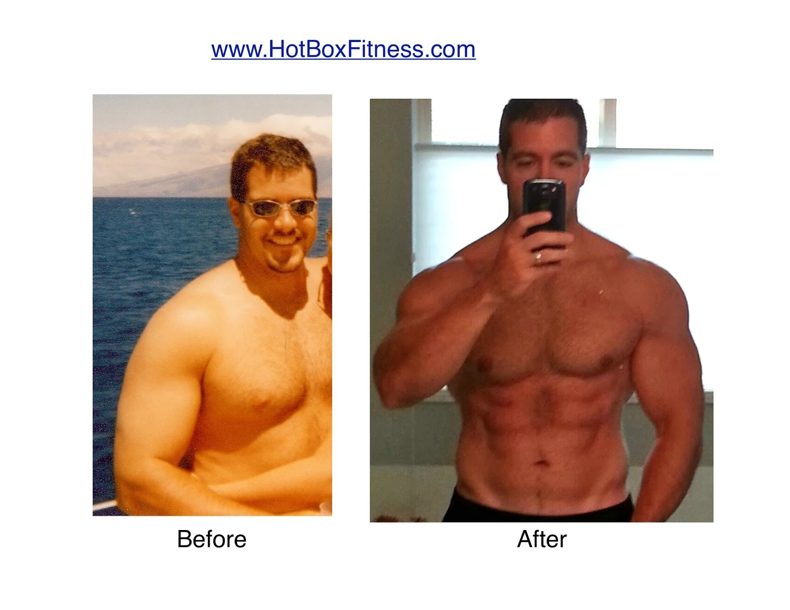 Before & After Hot Box Fitness