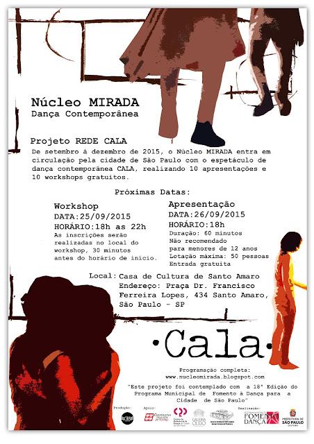 Workshop e Apresentação CALA na casa de cultura de Santo Amaro!