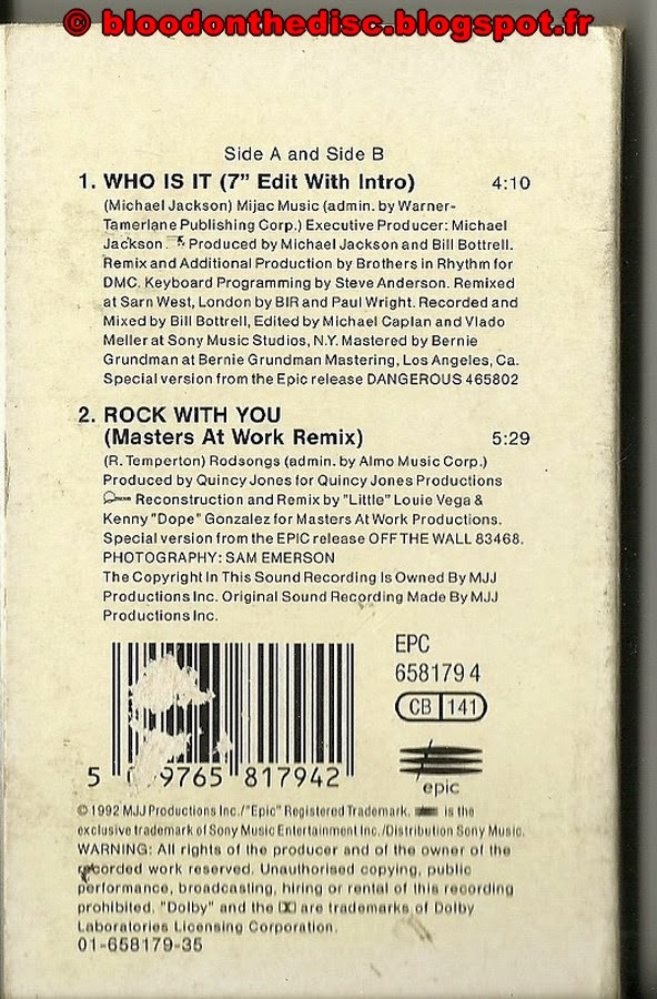 Who Is It K7 Back Cover