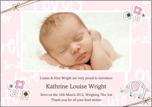 mummyslittlepeeps Baby Announcement cards – Baby Announcement Card Templates