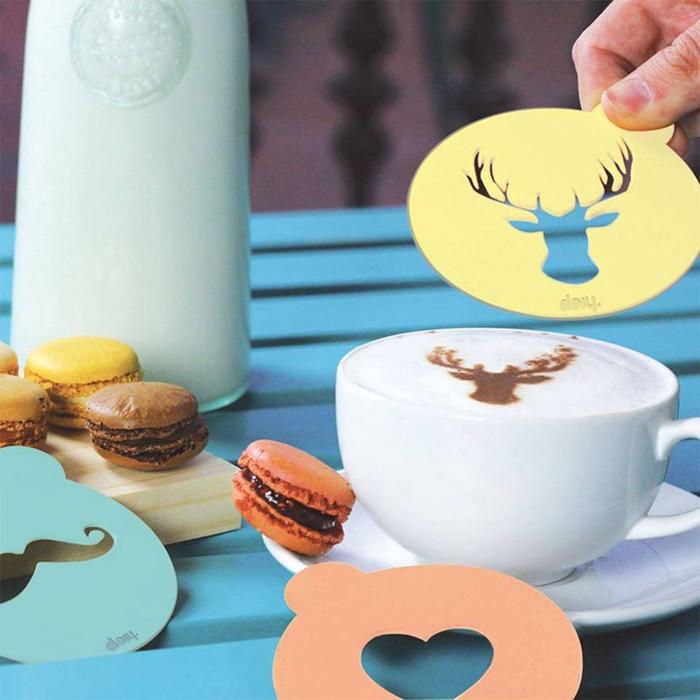 stencil decorare cappuccino