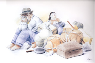 Desplazados_obra de Fernando Botero