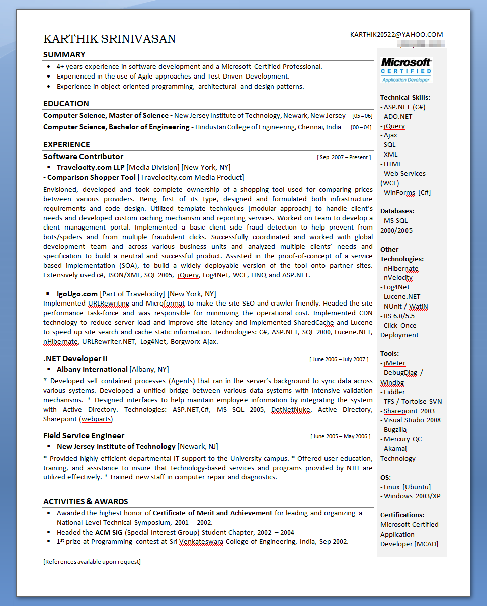 100 Resume 2nd Page Header Example Resume