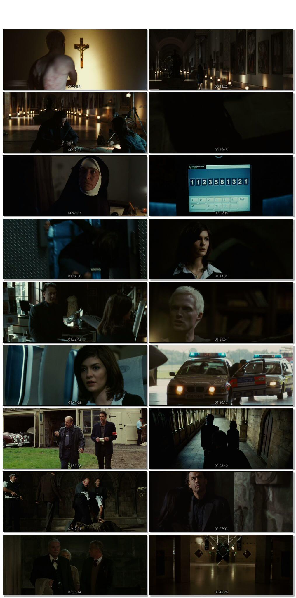 Screen Shot Of The Da Vinci Code 2006 300MB Full Movie Hindi Dubbed Free Download 720P BRRip HEVC