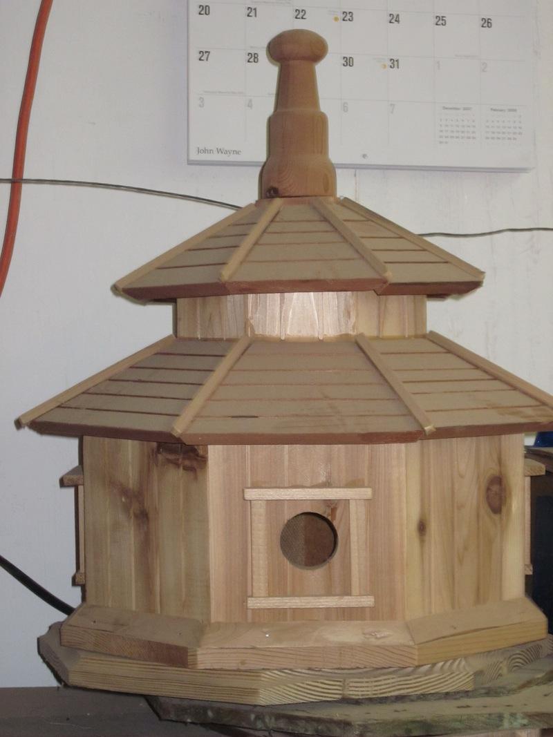 Bird In Everything Octagon Birdhouse
