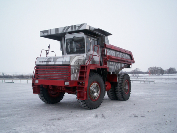 Worlds Largest Airbrushed Dump Truck From Russia - Art Car Central