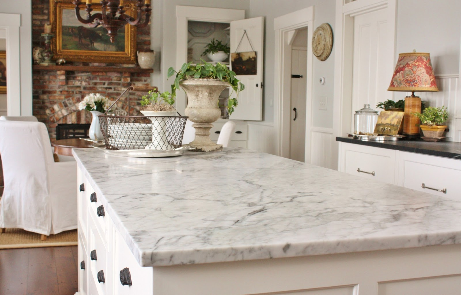 White Marble Counter : For the love of a house marble