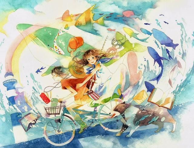 anime girl,anime scenery,wallpaper