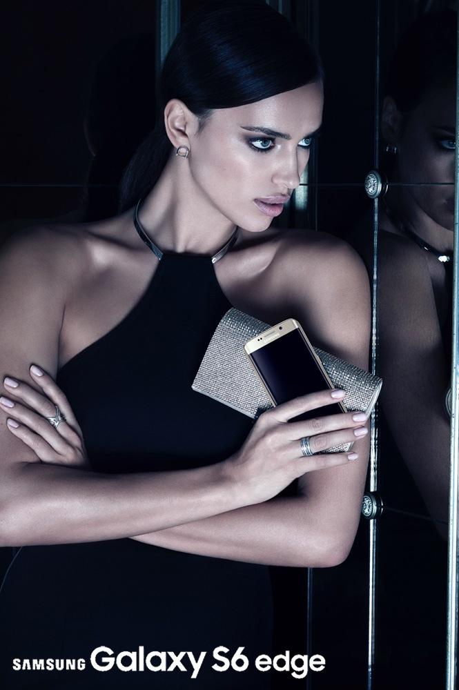 Samsung Galaxy S6 Edge Campaign featuring Irina Shayk