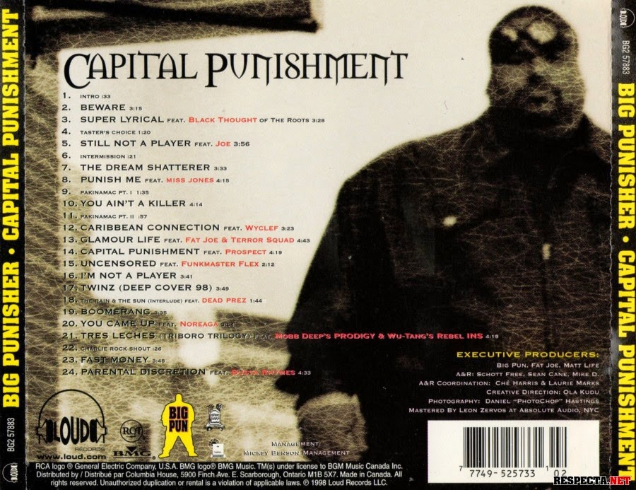 Big Pun Capital Punishment Cover Model
