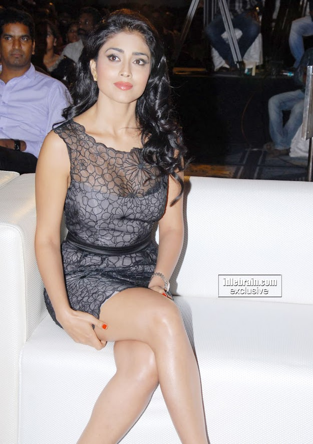 Shriya Saran Hot in Black Dress at event