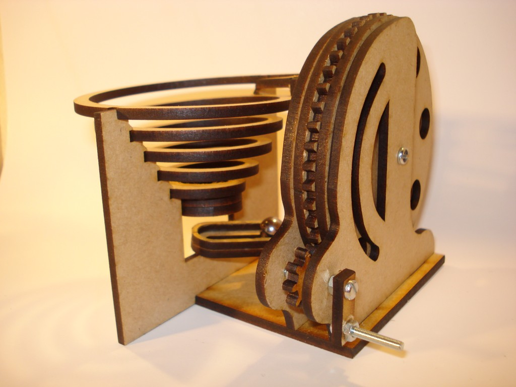 wood marble machine plans