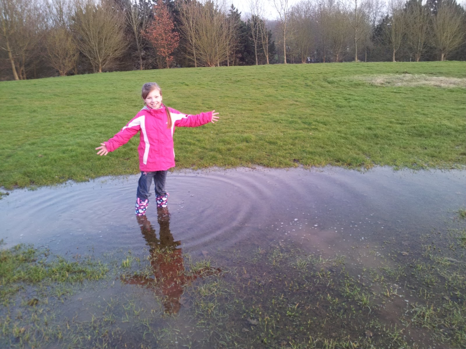 We Still Have Lot Of Snow On Ground But >> Family fun - dog walking and puddles | The Mini Mes and Me