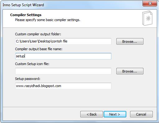 cara membuat file run install dengan aplikasi inno setup ...