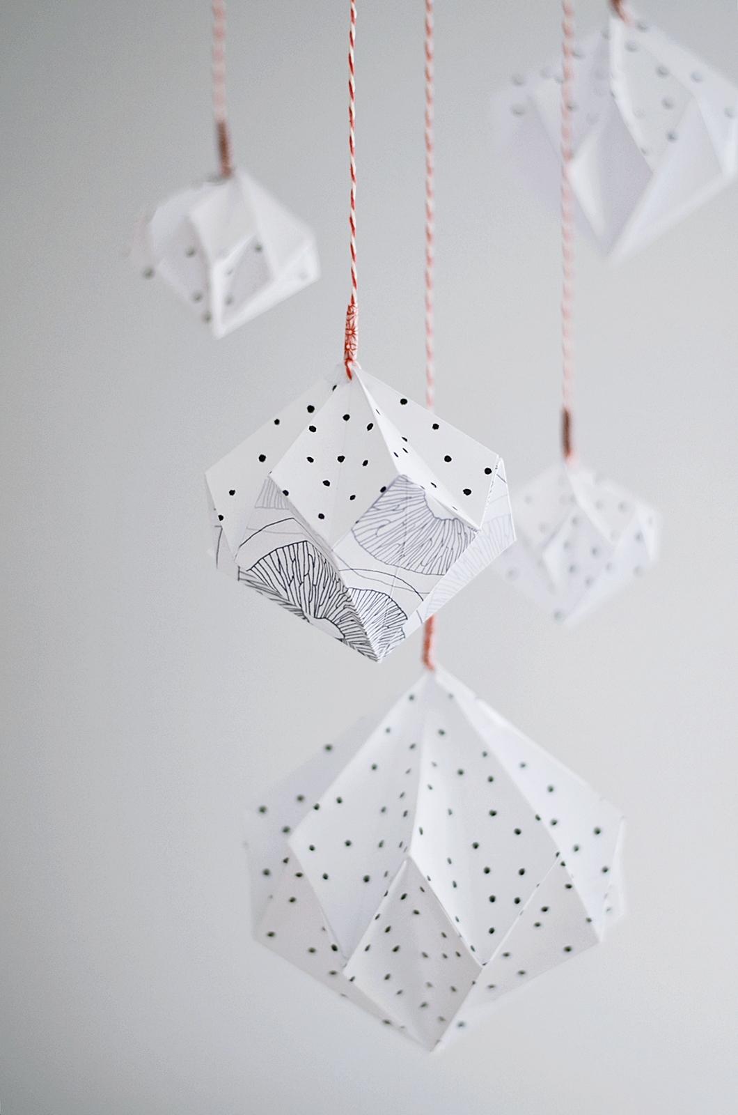 Attractive DIY Origami Mobile Aus Papier Photo