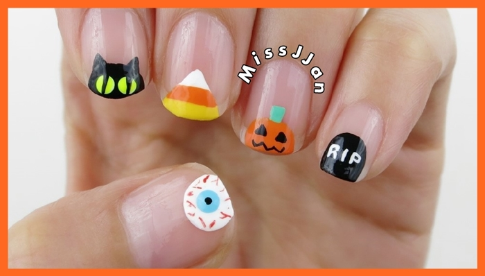 Missjjans Beauty Blog Halloween Nail Art Part 1 5 Cute And