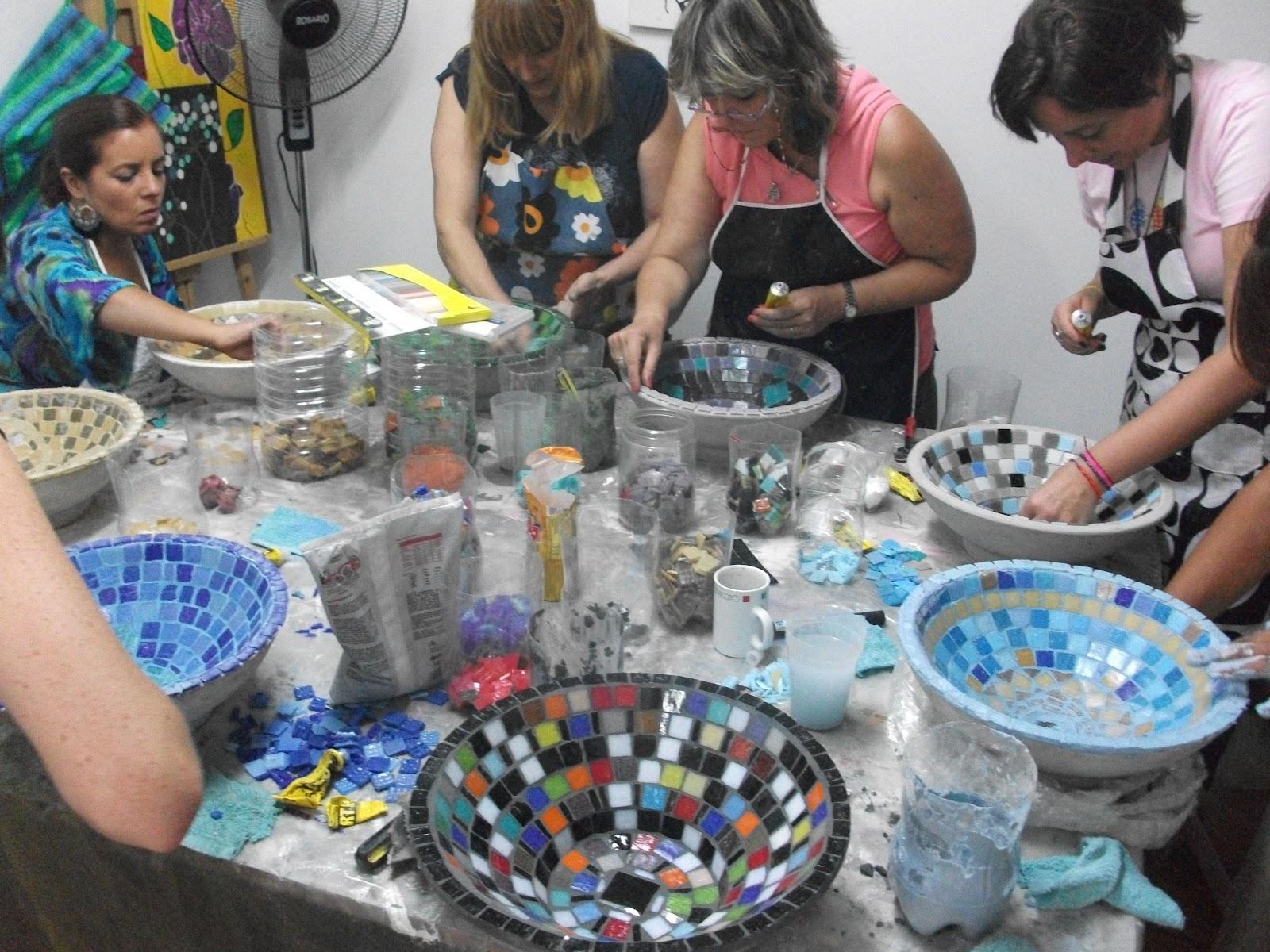 Bachas Para Baño De Vidrio: Mosaiquismo: SABADO 11 FEBRERO TALLER DE BACHAS DE BAÑO CON VENECITAS