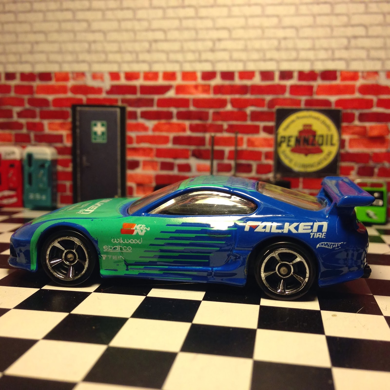 Just Unveiled: 2014 Hot Wheels Toyota Supra in Falken Tire livery ...
