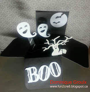 Halloween Ghost pop up box card
