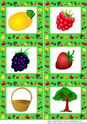 fruit flashcards for children