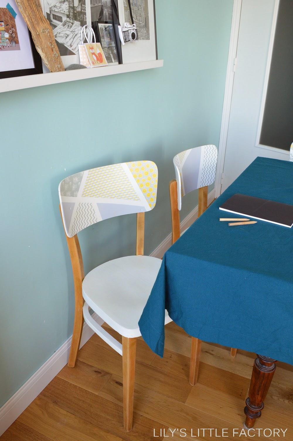 Peindre Des Chaises Dedans Un Relooking Extrême Du0027anciennes Chaises En Bois  | Lilyu0027s Little