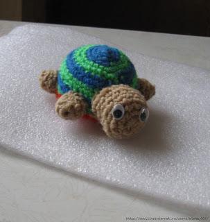 Вязаная черепашка амигуруми для начинающих