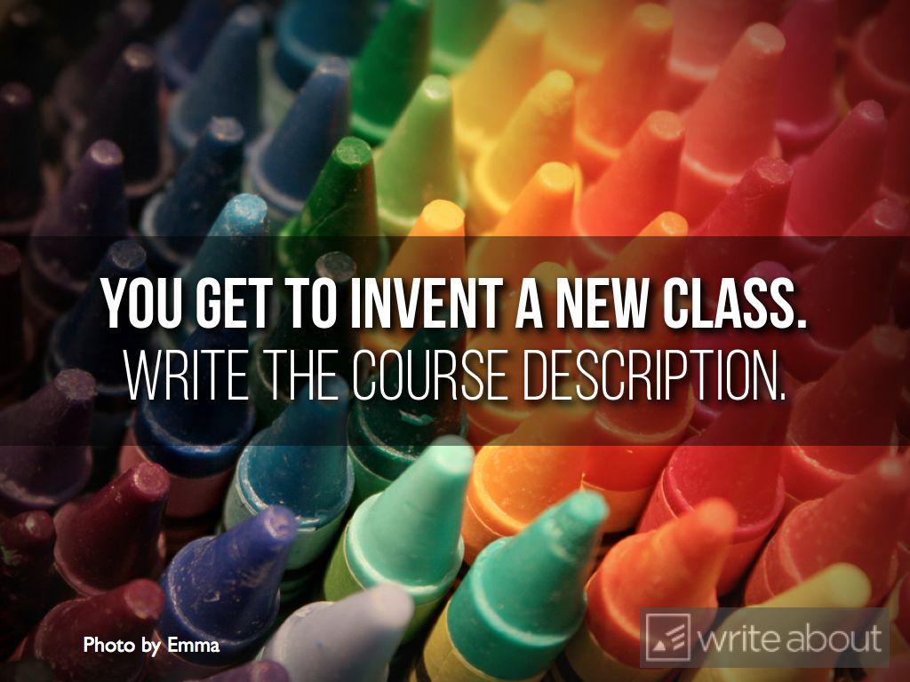 english coursework creative writing